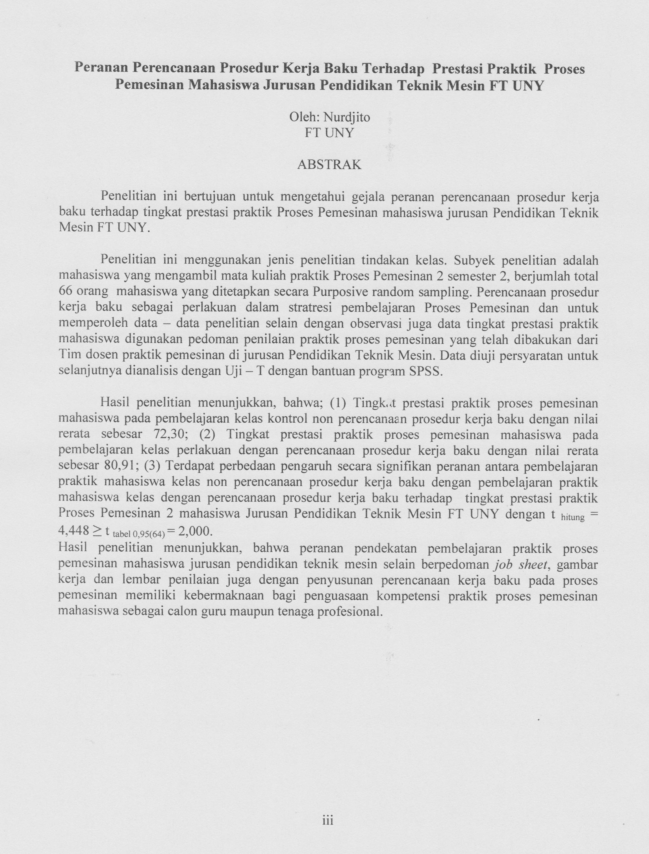 Drs Nurdjito M Pd Staff Site Universitas Negeri Yogyakarta