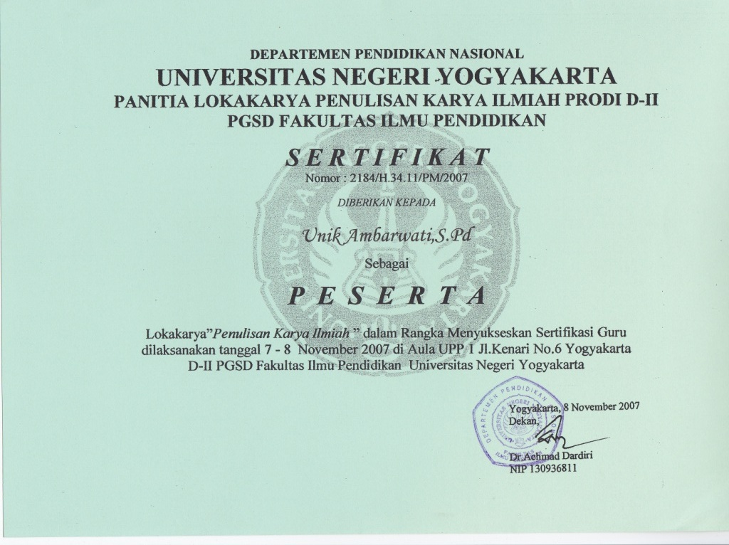 Unik Ambar Wati M Pd Staff Site Universitas Negeri Yogyakarta