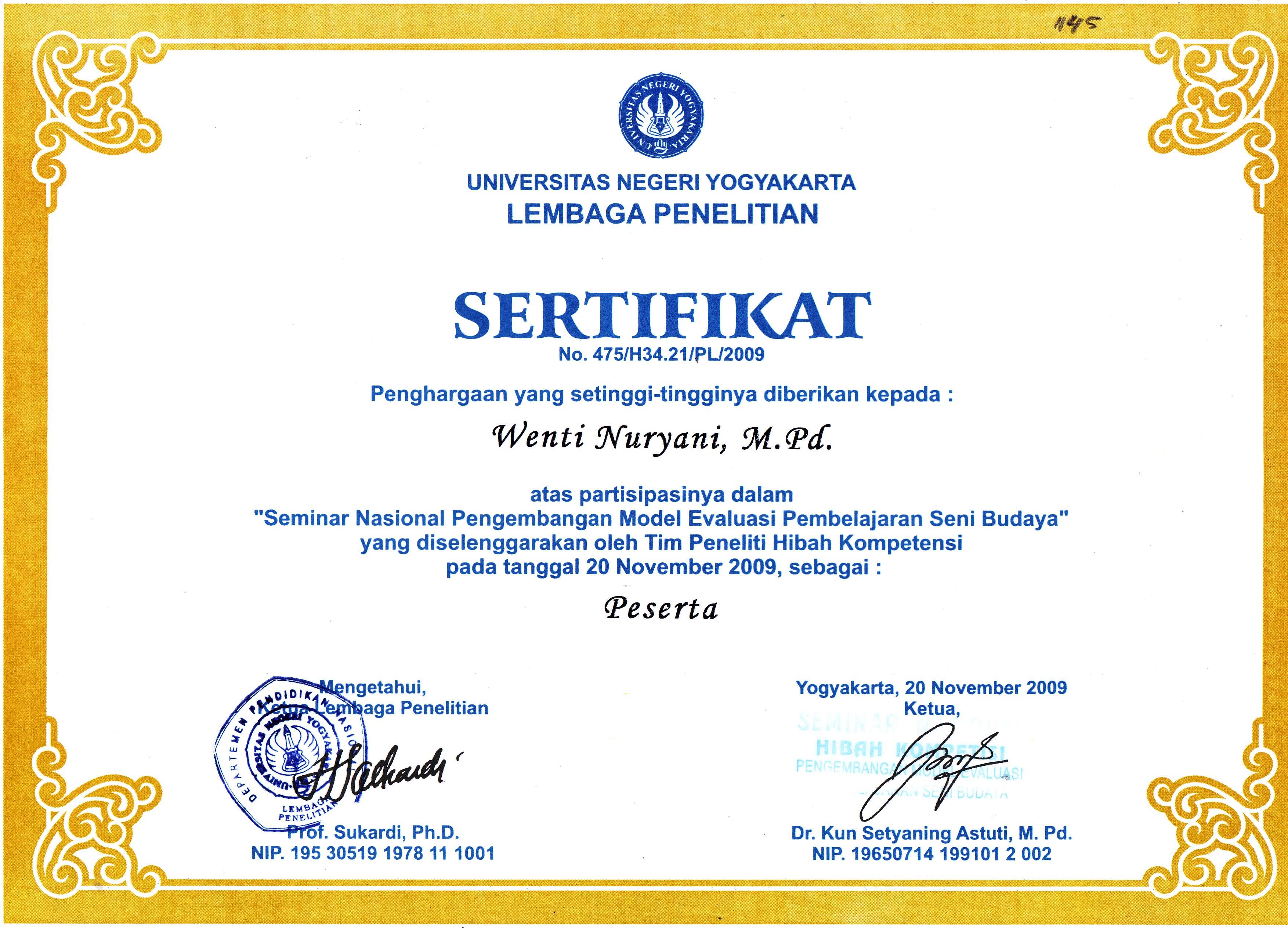 Dra Wenti Nuryani M Pd Staff Site Universitas Negeri Yogyakarta
