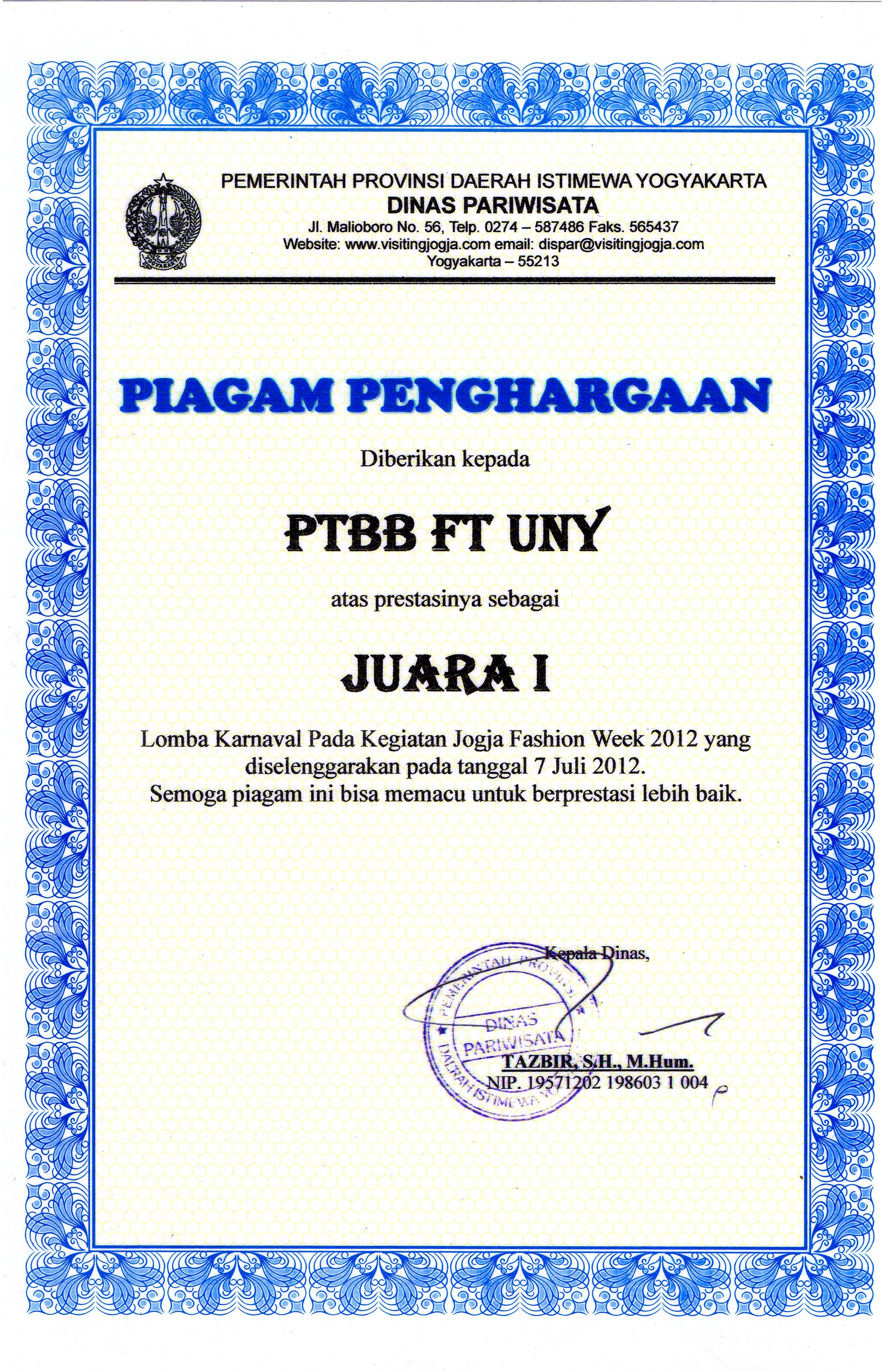 Afif Ghurub Bestari M Pd Staff Site Universitas Negeri Yogyakarta