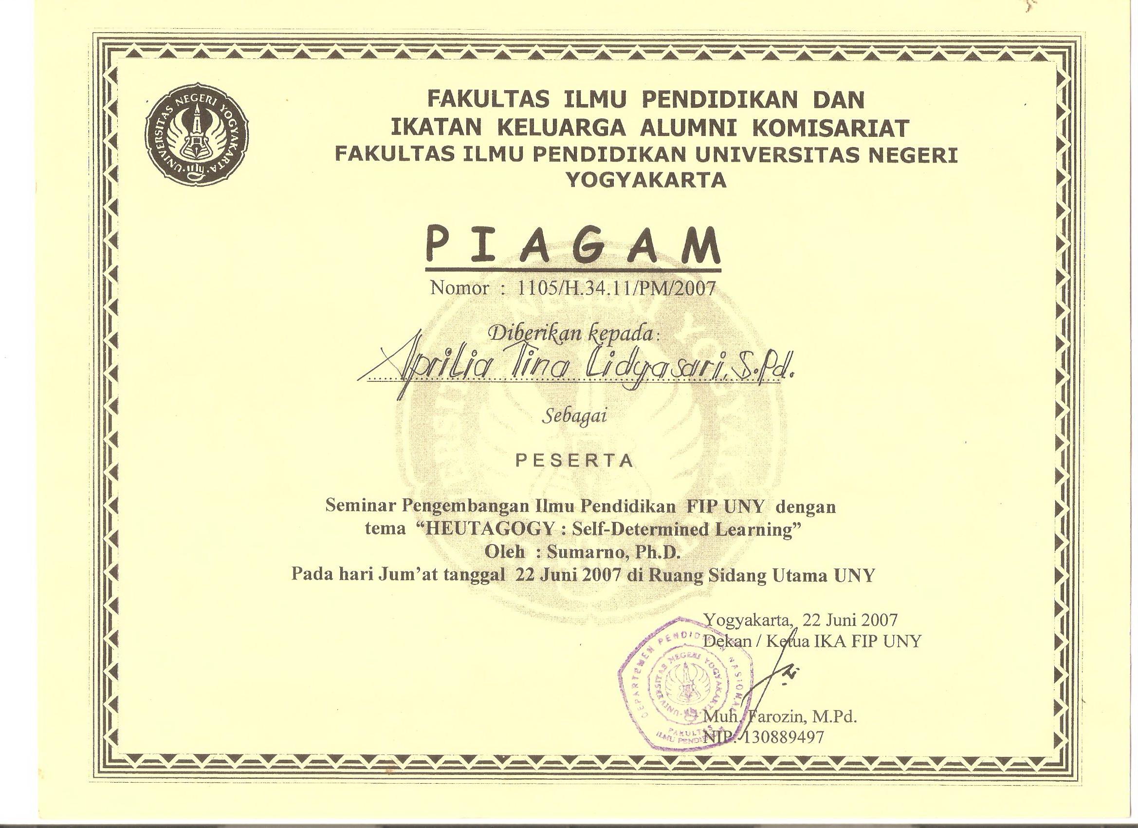2338 x 1700 · jpeg, 2007 Piagam Penghargaan untuk: Juri Bidang Lomba