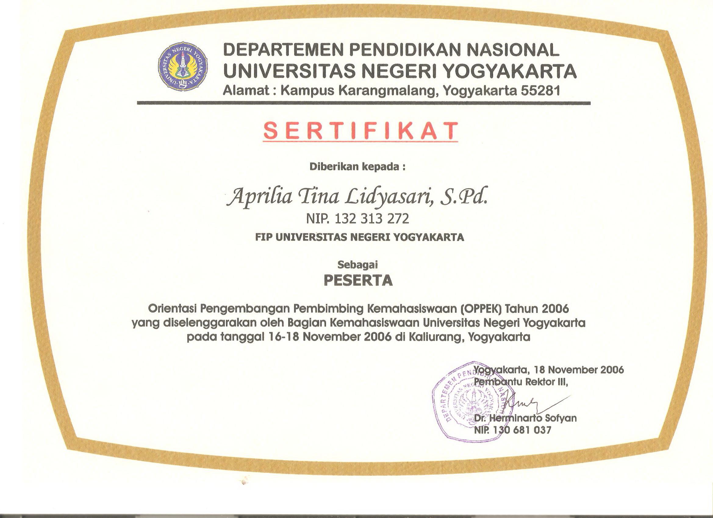 Aprilia Tina Lidyasari M Pd Staff Site Universitas Negeri Yogyakarta