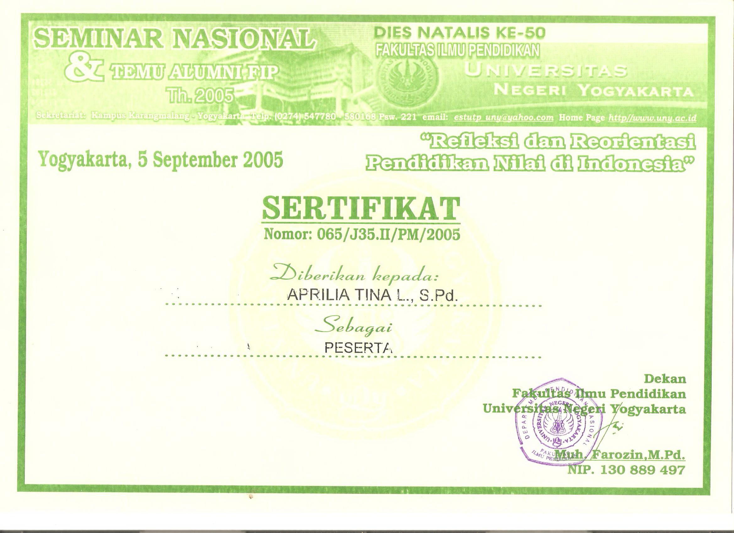 Surat Tugas/Ijin Sebagai Peseta Training of Trainer IHT Tahun 2012