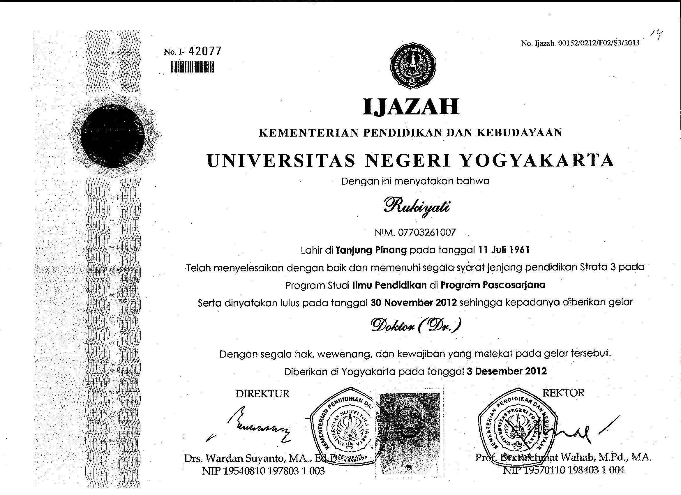 Rukiyati Hum Staff Site Universitas Negeri Yogyakarta