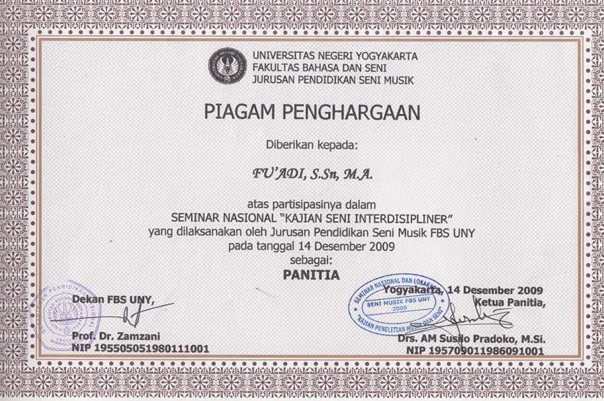 """Panitia Seminar Nasional """"Kajian Seni Interdisipliner"""""""