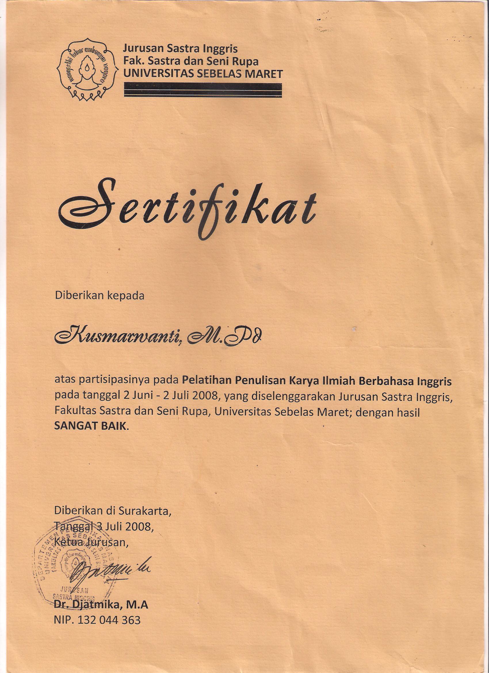 contoh judul thesis s2 bahasa inggris Judul tesis (pb/s2) bahasa inggris dengan keterampilan menulis surat bisnis dalam bahasa inggris mahasiswa akademi sekretari dan manajemen sriwijaya palembang.