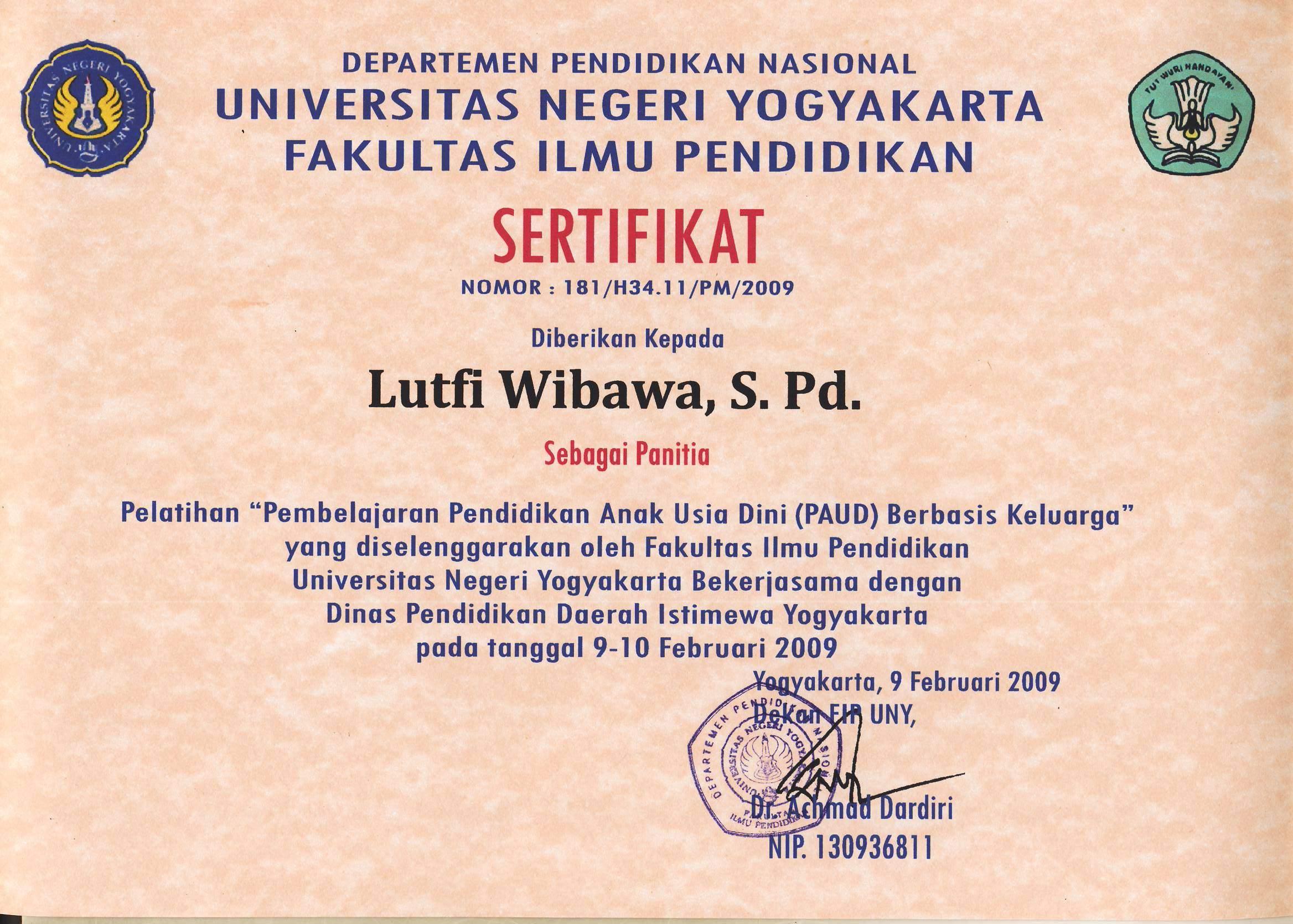 Lutfi Wibawa, S. Pd., M. Pd | Staff Site Universitas ...