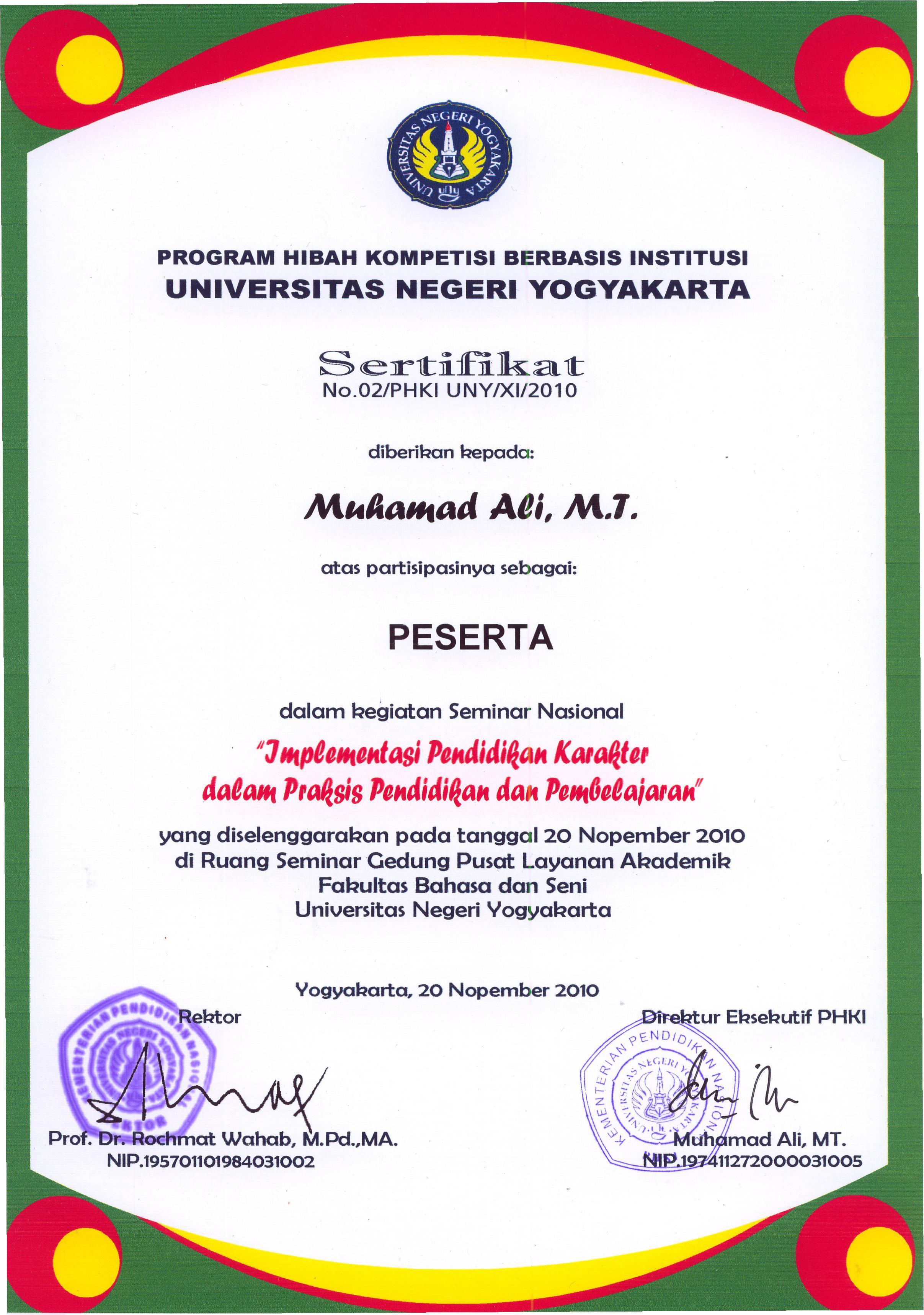 Muhamad Ali, ST.,M.T. | Staff Site Universitas Negeri