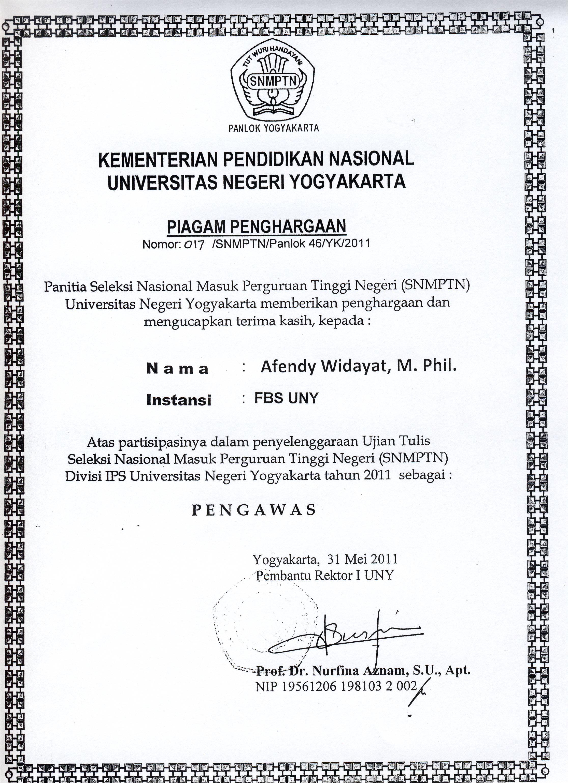 Dr Afendy Widayat M Phil Staff Site Universitas Negeri Yogyakarta
